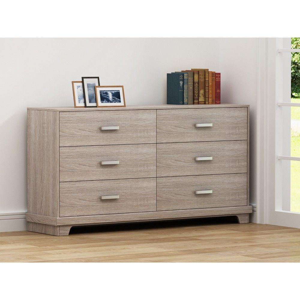 Loft Loft607 Bailey 6 Drawer Chest Dark Blonde Brown 607 Dresser Drawers 6 Drawer Dresser Chest Furniture [ 1000 x 1000 Pixel ]