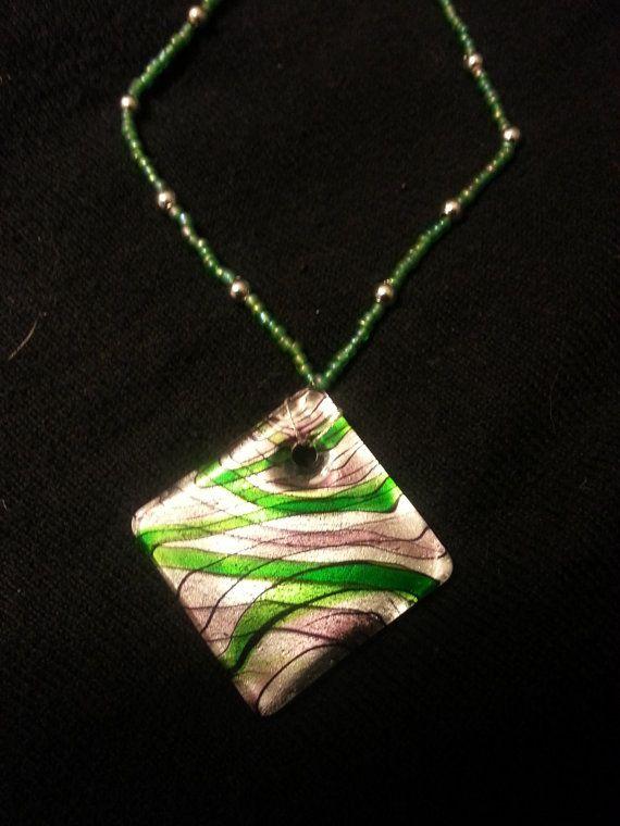 Glassy Tile Necklace