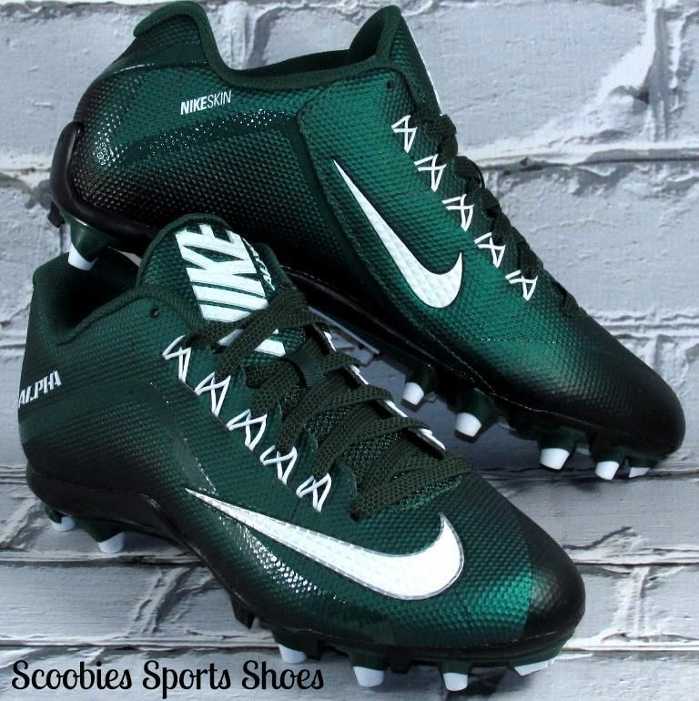 more photos f4700 c23d7 Nike Alpha Pro 2 TD Football Cleats Size 9 GreenWhite Nike
