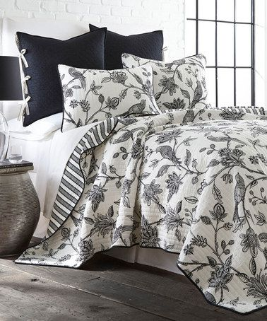 This Black Amp White Tanya Reversible Quilt Set By Levtex