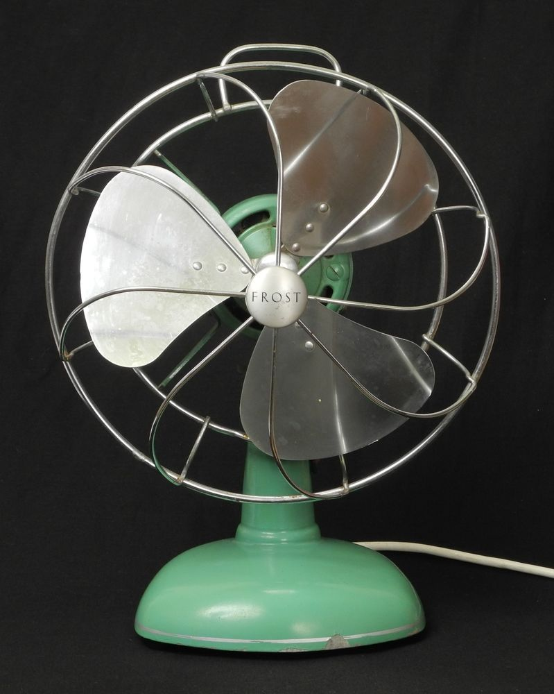 Vintage Looking Fan Nice Looking Vintage Frost Desk Fan In Green Working Fans My