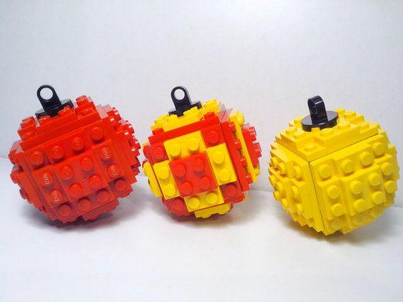 Lego kerst bal Christmas Ornament Kerstmis door lozebrazitto