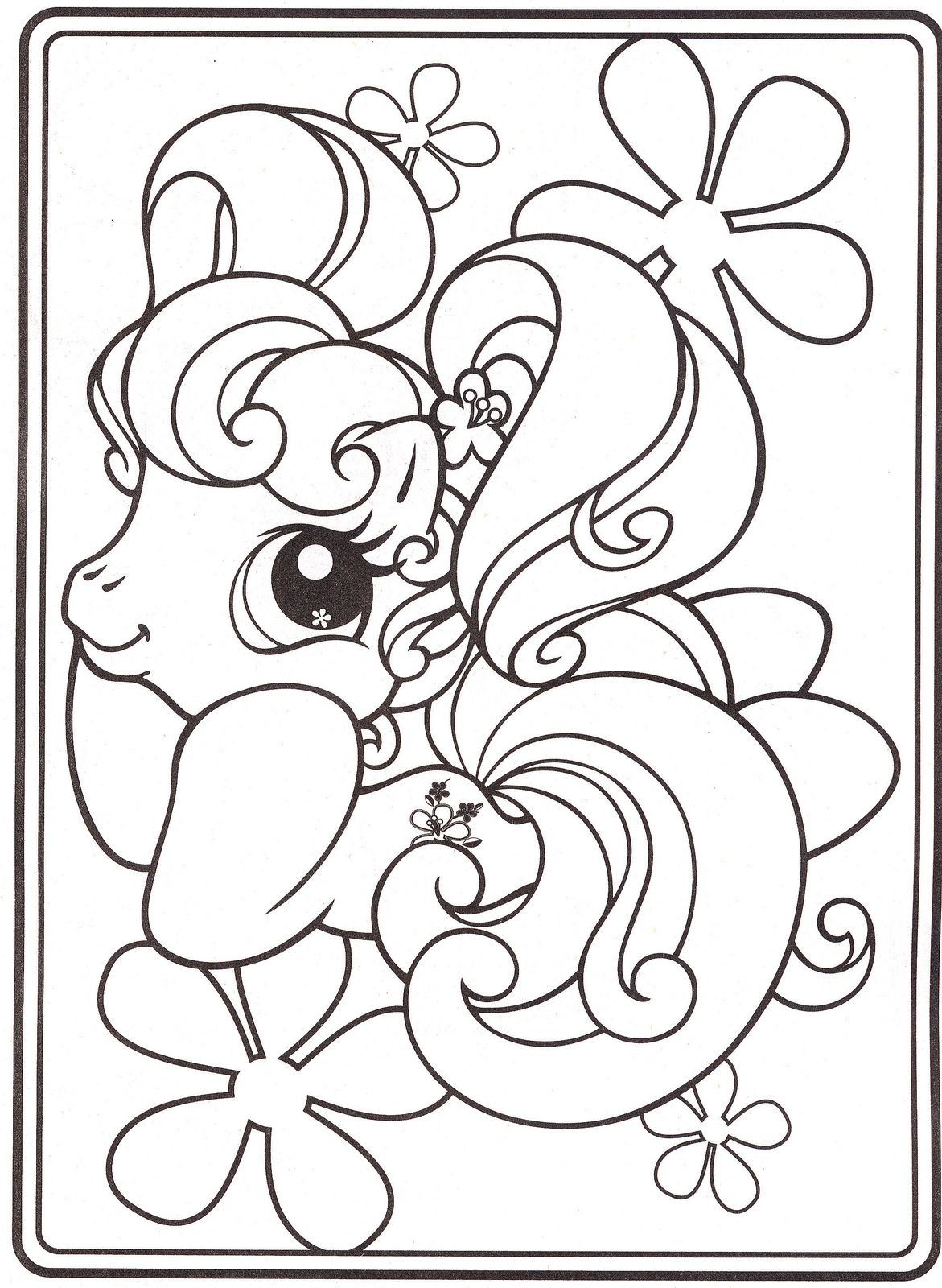 This is a picture of Légend unicorn coloring pages my little pony