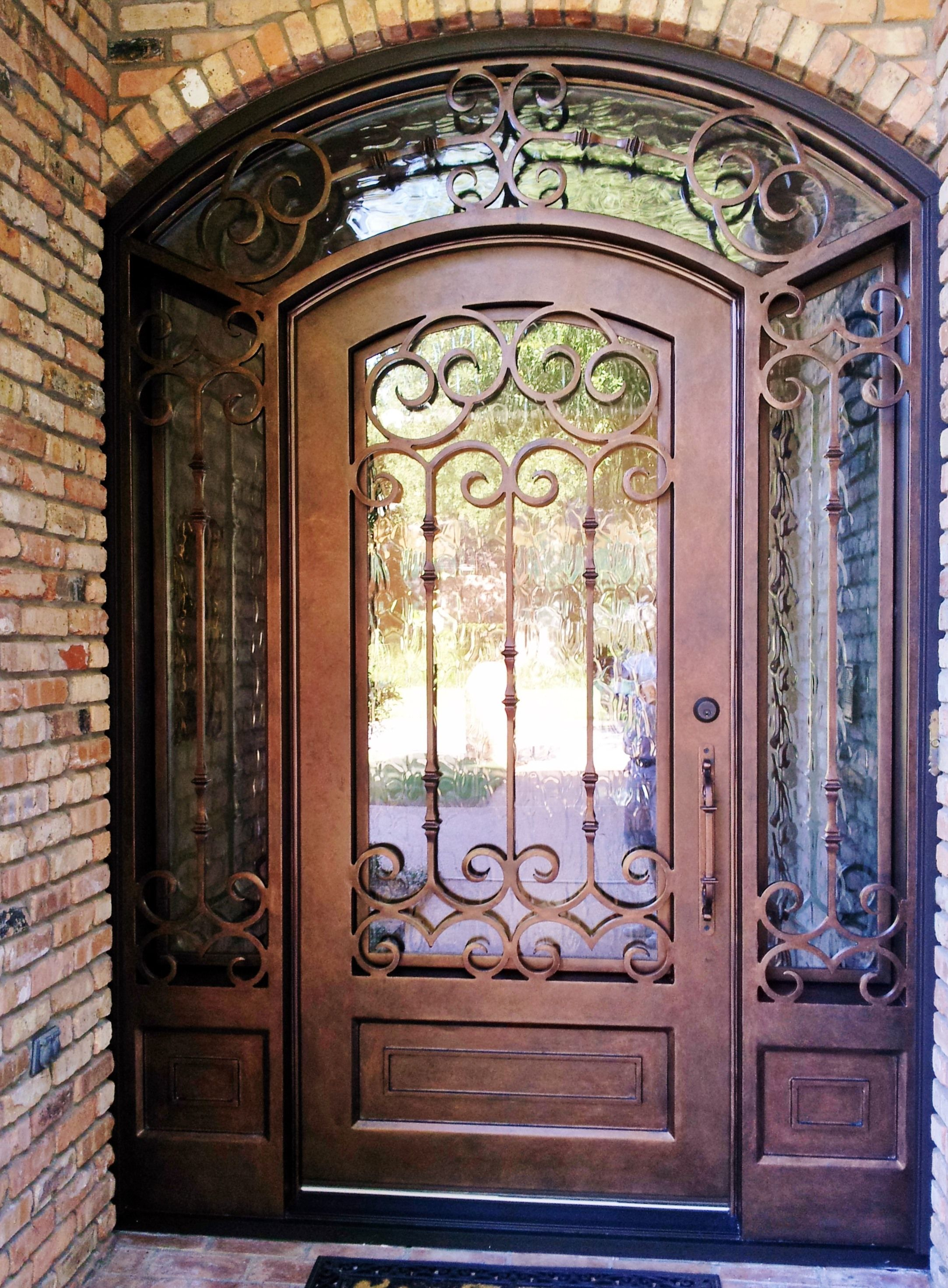 Pin By A A Custom Iron Doors On Custom Wrought Iron Single Doors Wrought Iron Doors Iron Doors Iron Front Door