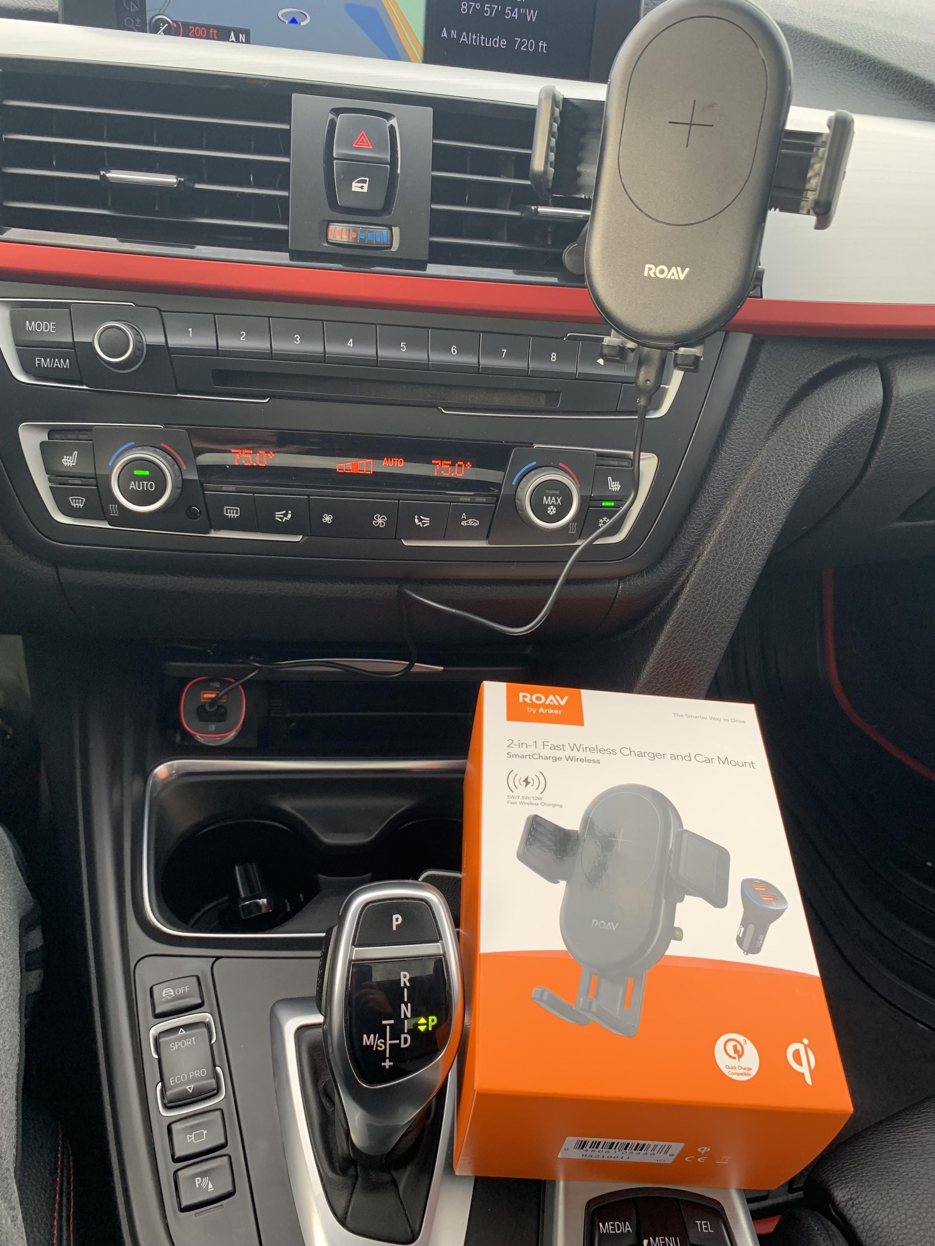 For Those Looking For A Cell Phone Mount F30 W Wireless Charge
