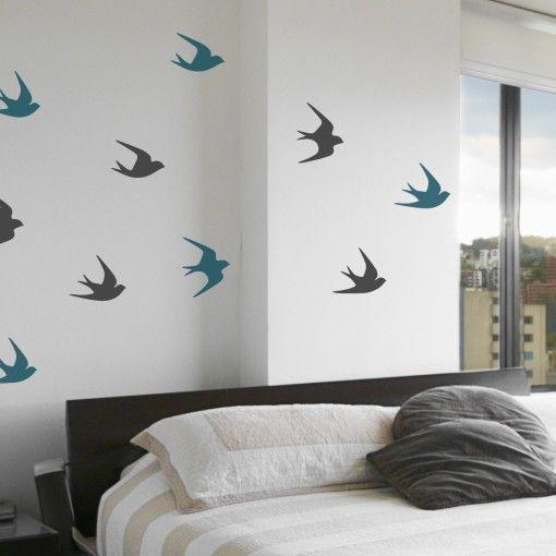 91f84102c0b Sparrow Birds Wall Decals
