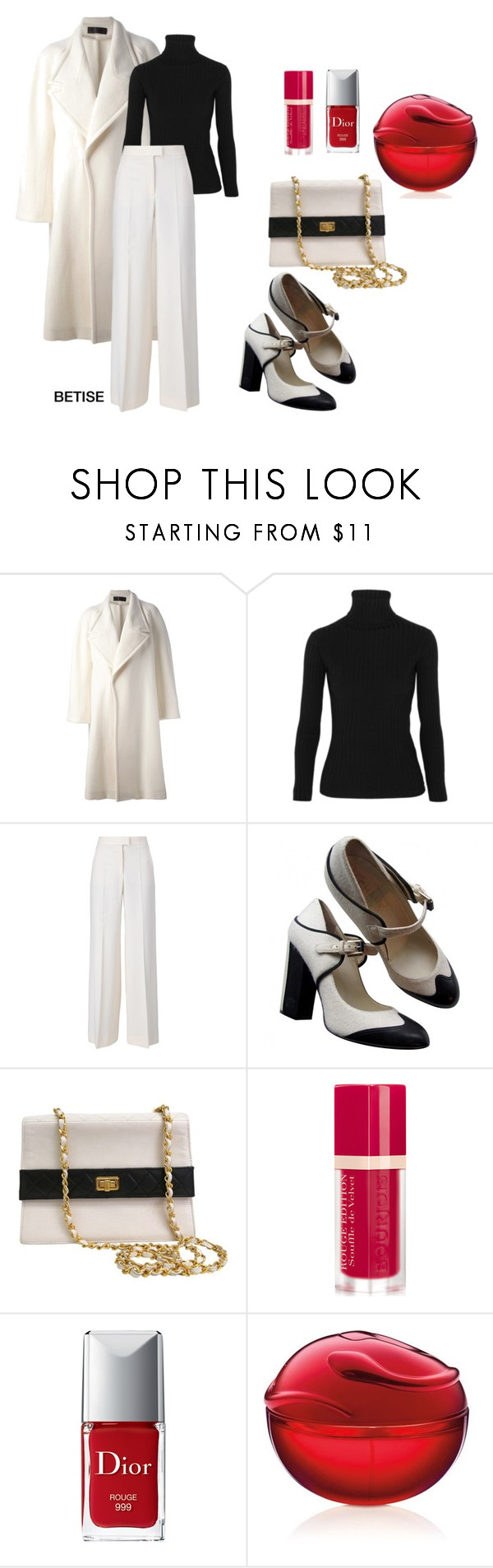 """""""WHITE  &   BLACK !!"""" by betty-sanga ❤ liked on Polyvore featuring Haider Ackermann, Acne Studios, STELLA McCARTNEY, Chanel, Bourjois, Christian Dior and DKNY"""