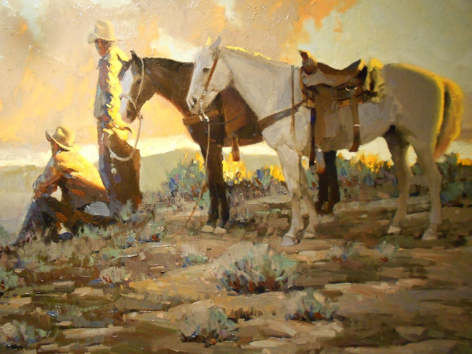 Viewing - Famous Cowboy Paintings Art