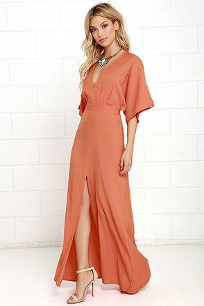 Modern Form Coral Orange Maxi Dress at Lulus.com!