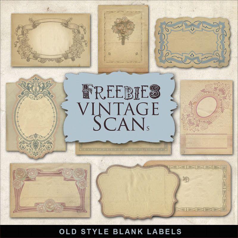 Free Database Of Digital Illustrations And Papers Etiquetas Vintage Manualidades Etiquetas