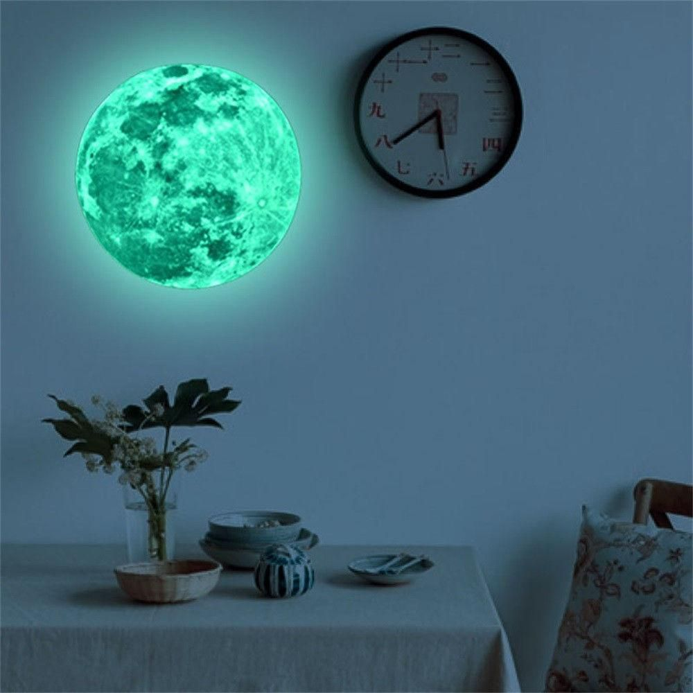 3D Moon Glow Wall Stickers - Storefyi
