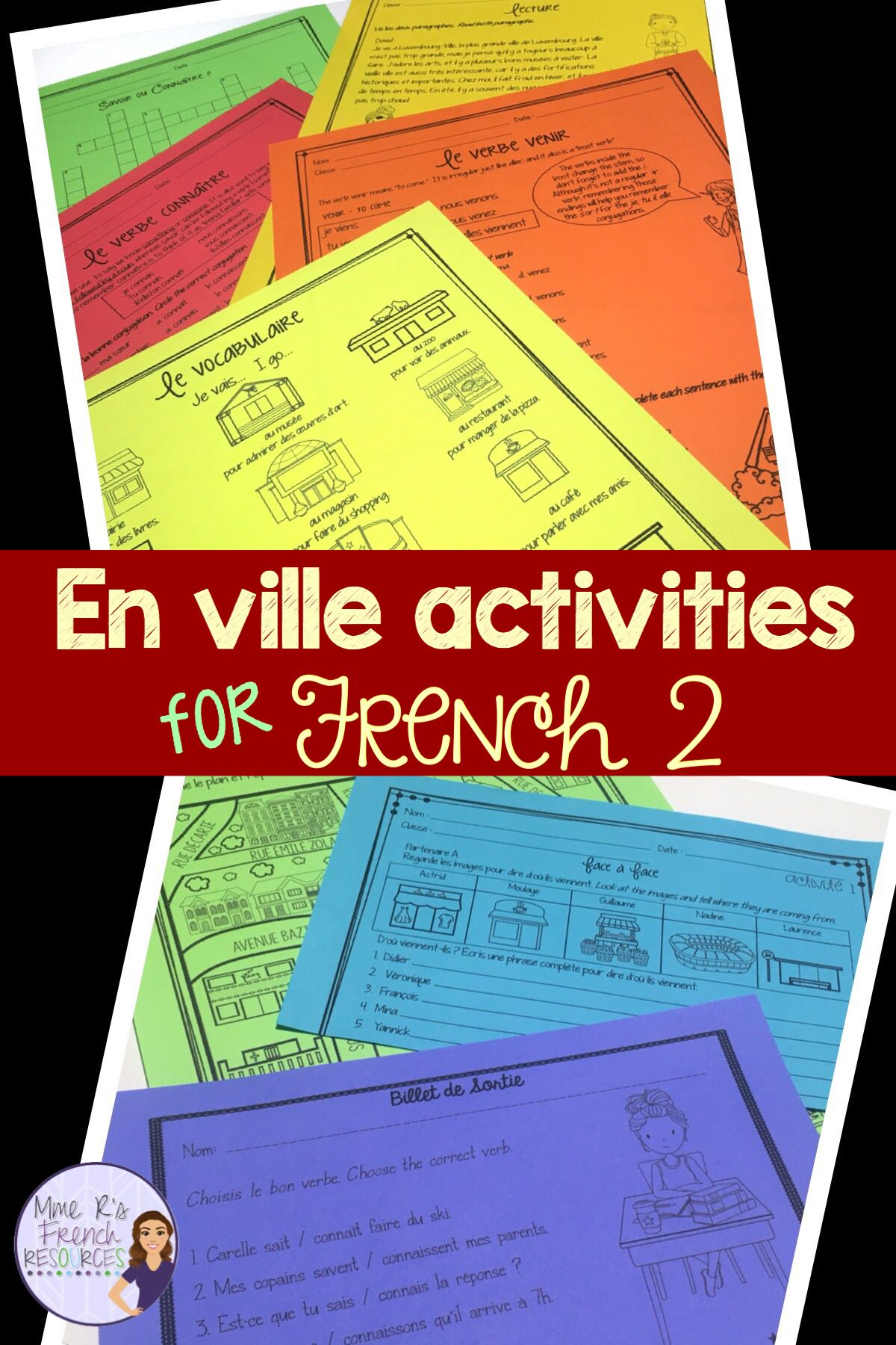 French Places Speaking And Writing Unit En Ville 2
