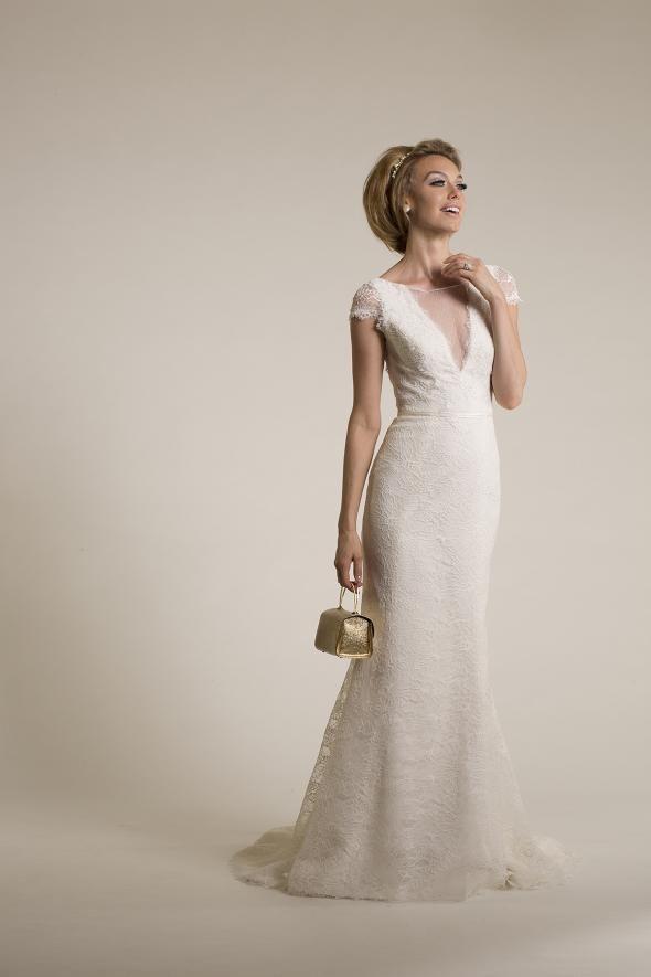 Lace And Novelty Bateau Trumpet Starr Amy Kuschel Wedding