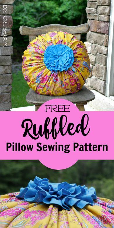 Free Ruffled Pillow Sewing Pattern & Free Ruffled Pillow Sewing Pattern   Sewing patterns Pillows and ... pillowsntoast.com