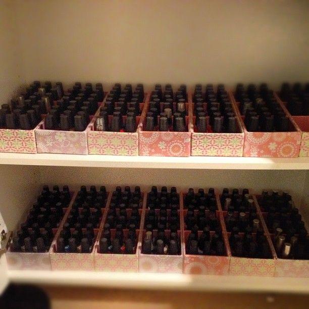 Nail Art Storage Ideas: How I Organize My Nail Polish. OPI