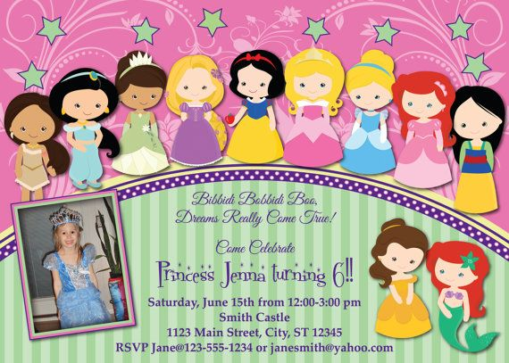 Toddler Princess Birthday Invitation by MellysHandmades on Etsy – Toddler Girl Birthday Invitations