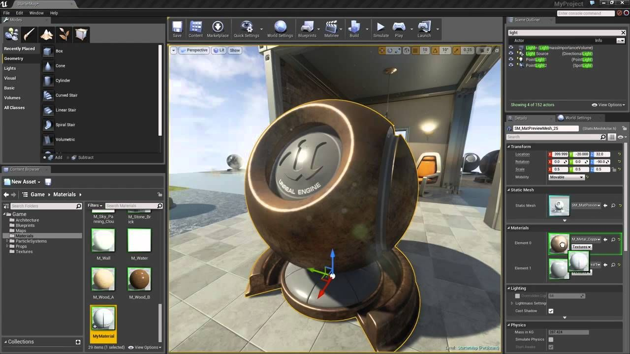 Unreal Engine 4 Materials 2 Creating A Basic Material Unreal