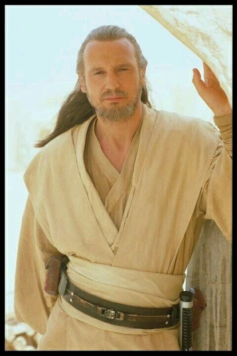 Qui-Gon Jinn was a revered, yet maverick and unconventional Human male Jedi Master. He was the Padawan to Count Dooku, and the mentor to Obi-Wan Kenobi and briefly Anakin Skywalker. Jinn often placed himself in conflict with the Jedi High Council. He was deeply attuned to the Living Force, which contributed to him frequently taking side trips to help seemingly weak and useless life-forms. He was regarded by many Jedi as sharp-witted and possessing great wisdom.