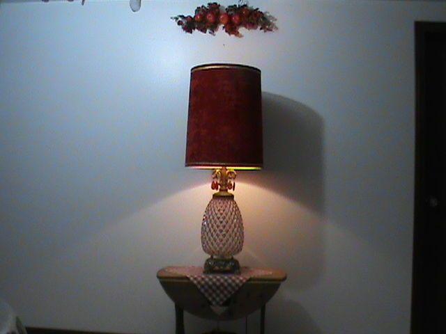 Nice Lamps hollywood regency red pineapple shaped 1972 table lamp ef&ef