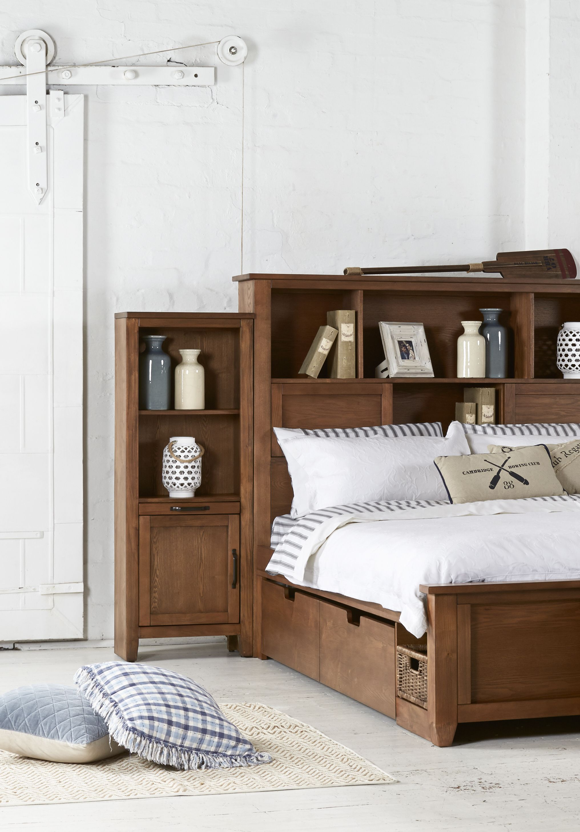 The Hampton Bold American Poplar Bedroom Suite With Tons Of Smart Storage From Bedshed