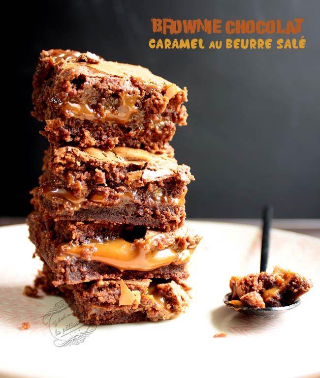 Brownie chocolat caramel au beurre salé | Brownie chocolat ...