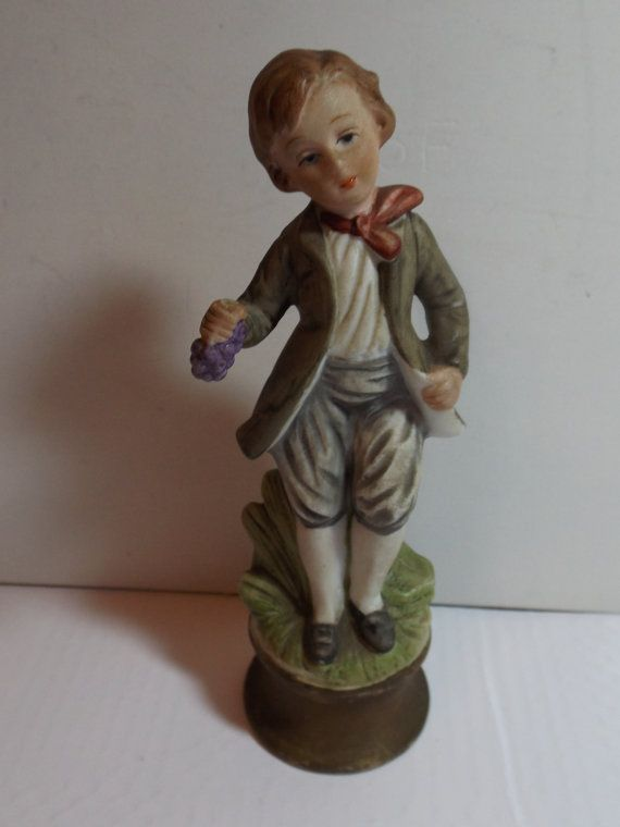 ARDALT Figurineboy with grape hand painted LENWILE by RetroBuy,