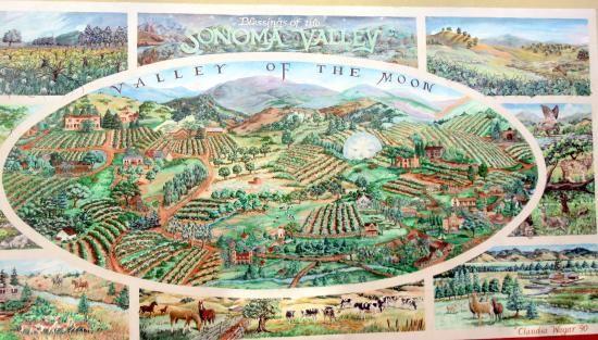 Sonoma Valley Mural (by Sonoma Town Square Area), Sonoma, Ca