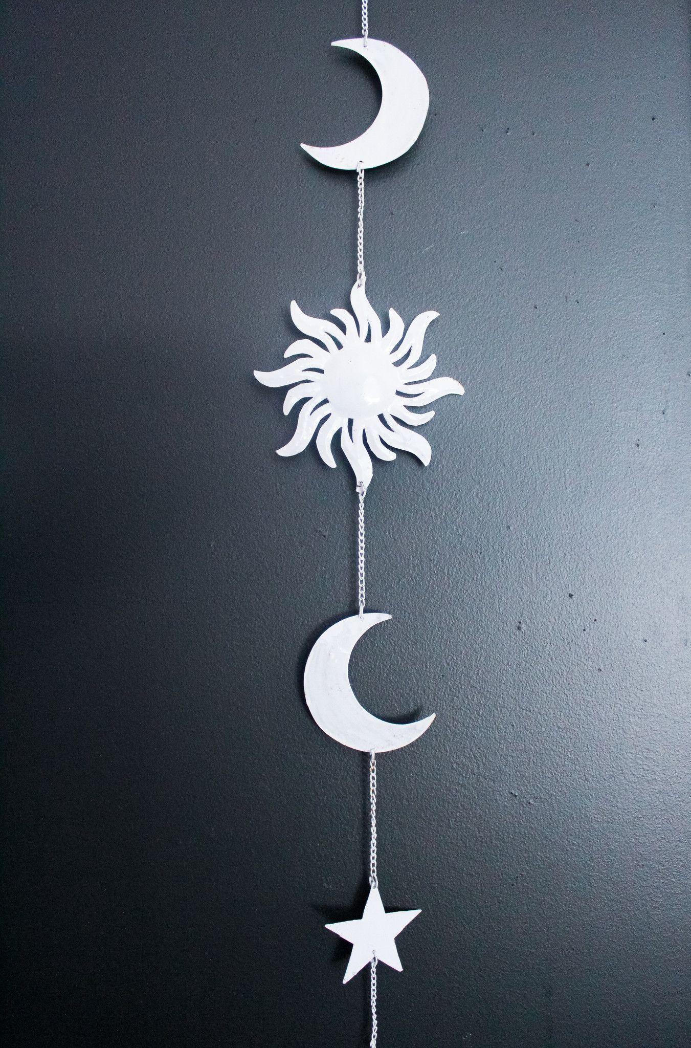 Celestial Wall Hanging Stars Wall Decor Sun Wall Decor Hanging Wall Decor