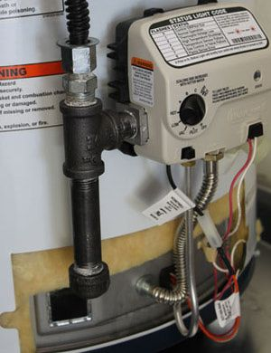 Gas Line Sediment Trap For A Water Heater Home Repair