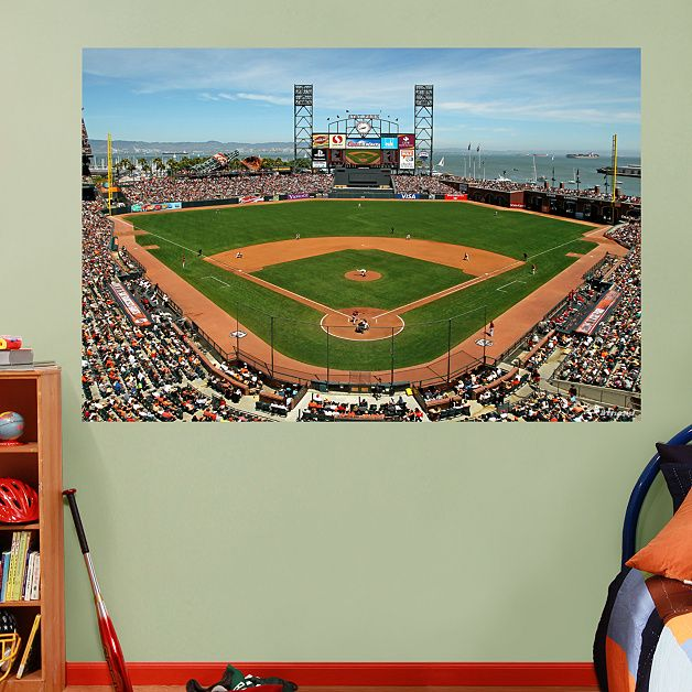 Inside At T Park Mural San Francisco Giants Sports Wall Decals