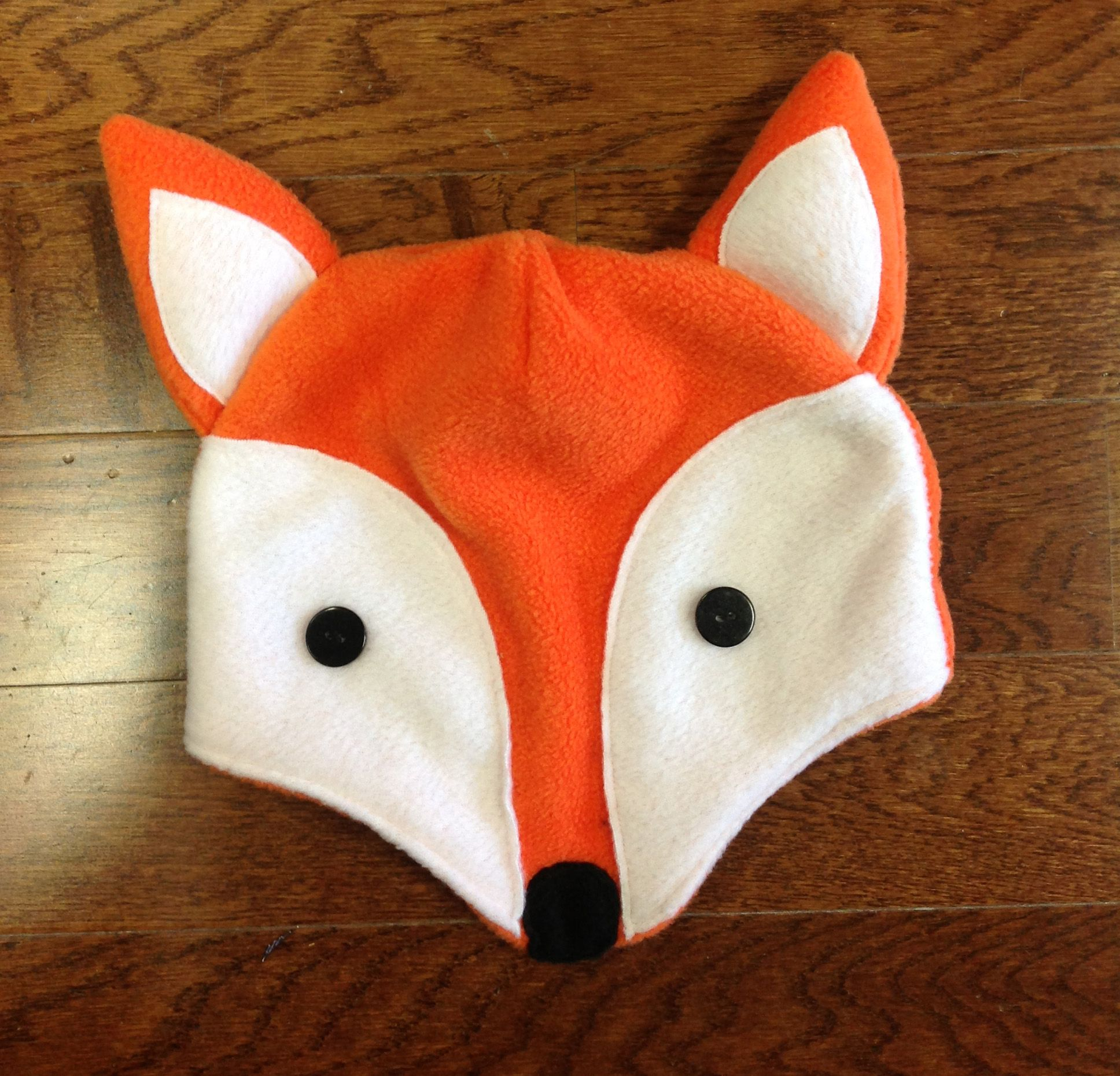 Fox fleece hat free pattern and tutorial - love this! | Sewing for ...