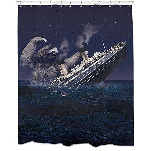 Sharp Shirter Sloth Titanic Shower Curtain Smileamazon Dp B00LLO4VJ0 Refcm Sw R Pi Qpr Ub0BCF9KS