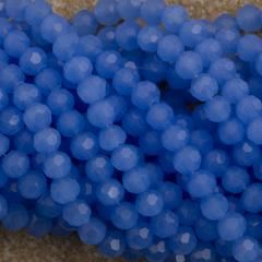 100 Faceted Round 4mm Light Blue Opal Beads