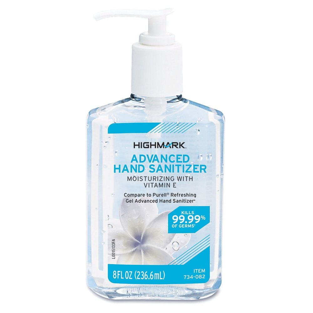 Highmark Hand Sanitizer 8 Oz Hand Sanitizer Alcohol Alcohol Free