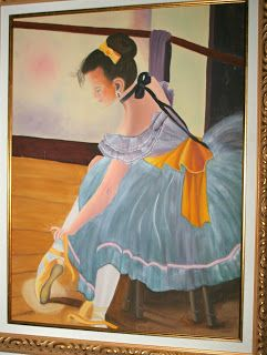 Rose Mary Muller, La Verne, Ca.  Oil painted ballerina I did about 25 years ago