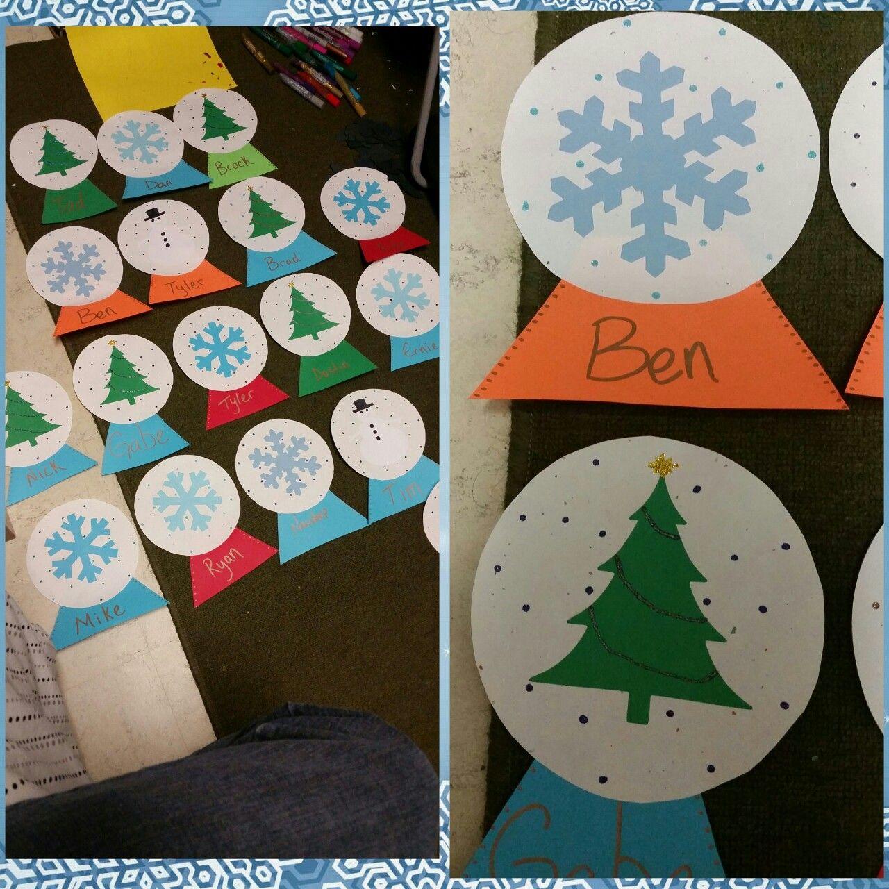 Holiday themed snow globe door decs & Holiday themed snow globe door decs | Door Decs! | Pinterest ...