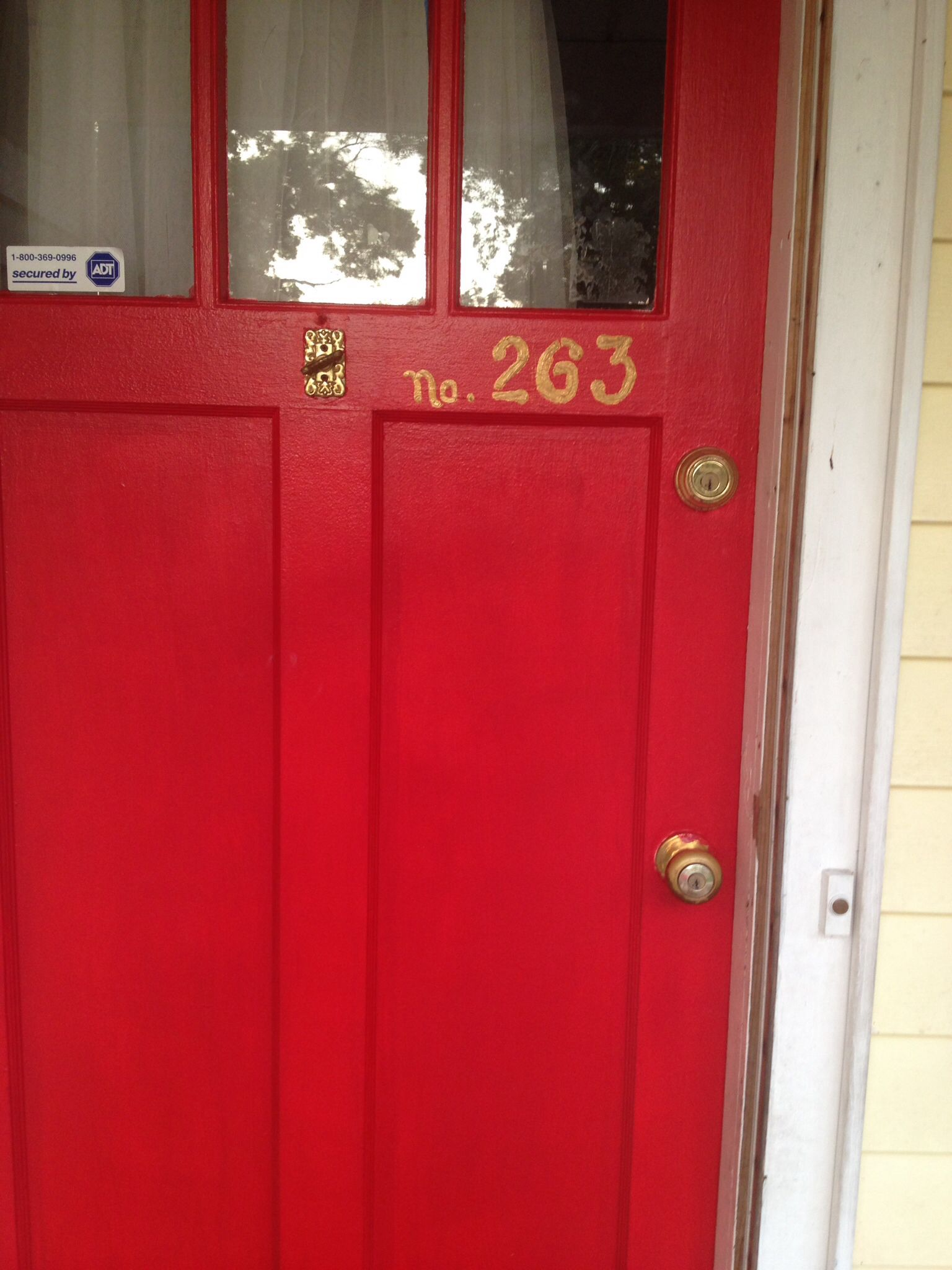 Numbers on door