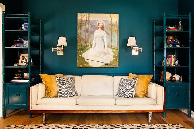 Dark teal and golden mustard Nichole Thèrese Design: Bold Paint ...