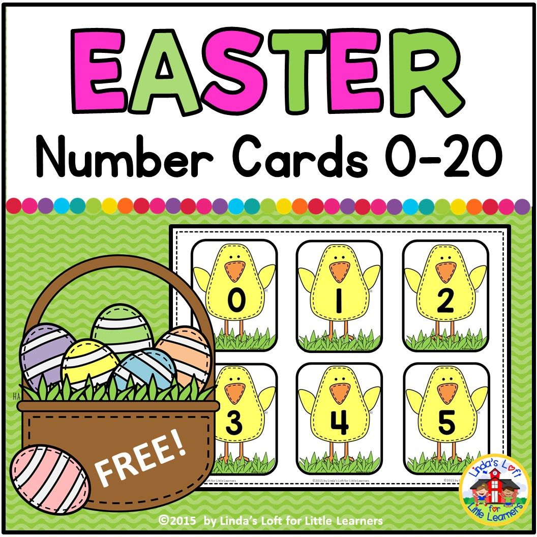Easter Number Flashcards 0 20