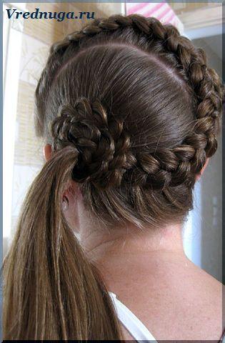 Колоски и косы - прически для девочек   Прически, Волосы ...