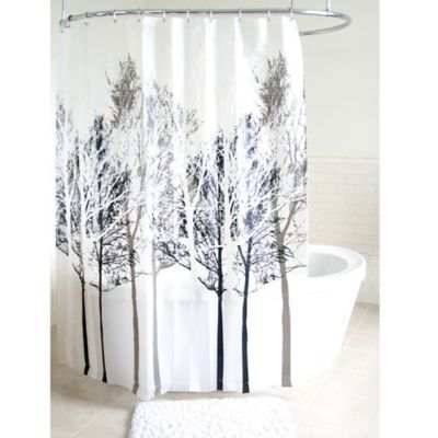 Forest Peva Shower Curtain In Grey Products Pinterest Bathroom