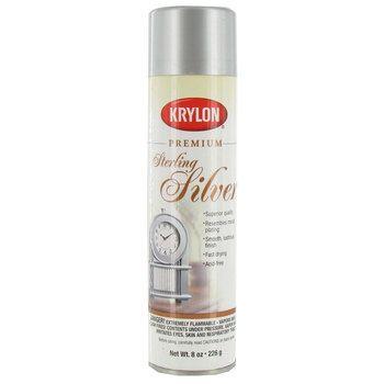 Sterling Silver Krylon Shimmer Metallic Spray Paint 8 Ounce