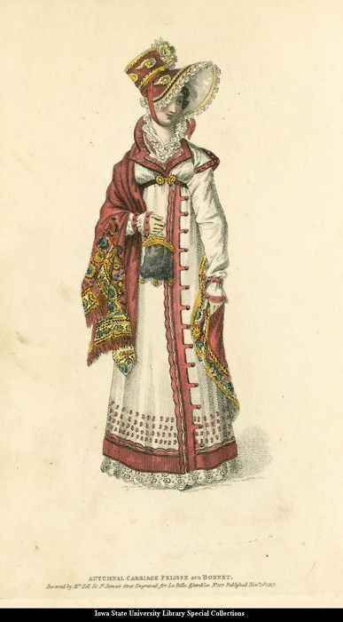 Fashion plate, 1817, La Belle Assemblee