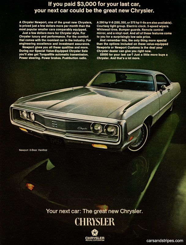 1969 Chrysler Newport If You Paid 3 000 For Your Last Car Original Ad Chrysler Newport Chrysler Automobile Advertising