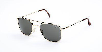 85c796fdbe5 NIB AO Original Pilot Gold Frame Wire Spatula Temple Grey Non-Polarized  Lenses