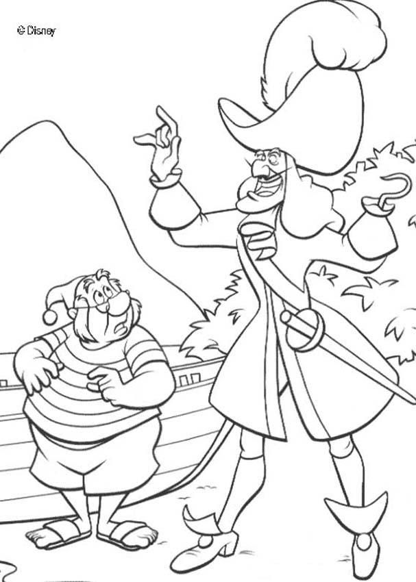 pirateshipcoloringpagesprintable captain hook and smee peter