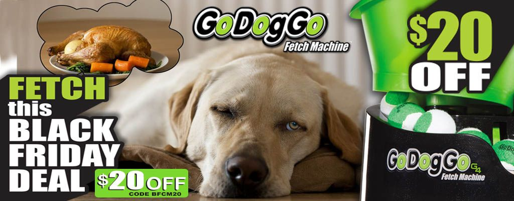 Save 20 On Godoggo Fetchmachine On Blackfriday The Ball Crazy Dog On Your Shopping List Will Be Thankful 20 Off Godoggo G4 Crazy Dog Black Friday Dog Ball