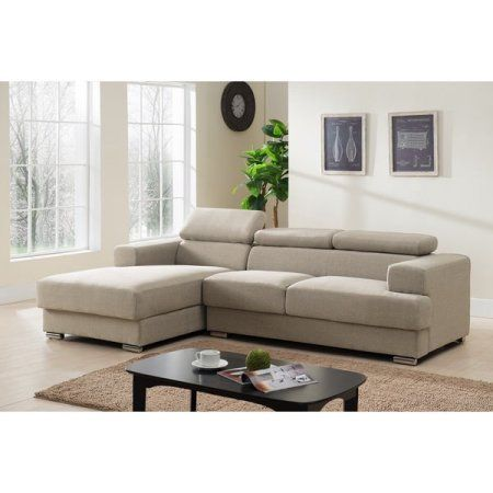 Gabriel Contemporary Fabric Upholstered 2-Pc Left Facing Sectional