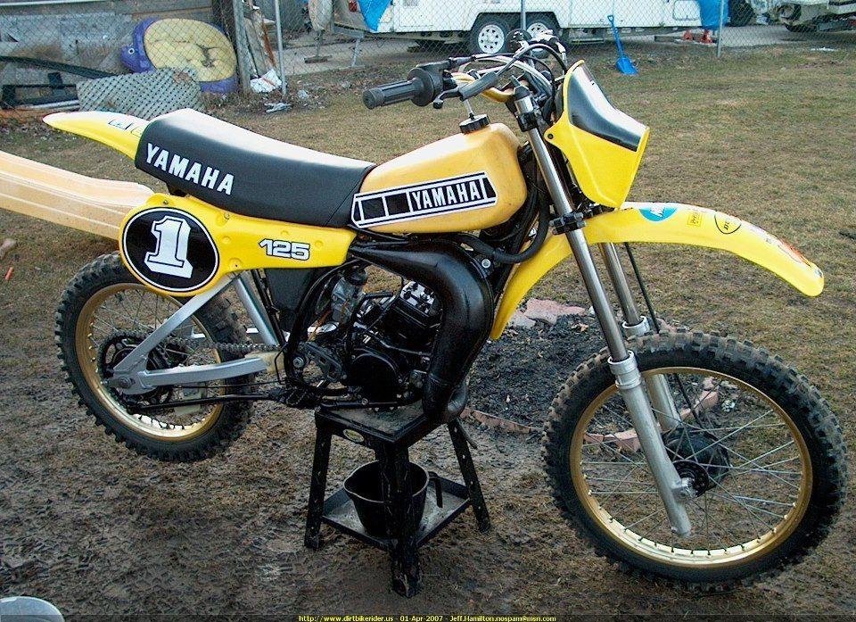 1981 Yamaha Yz125 Vintage Motocross Classic Bikes Motocross