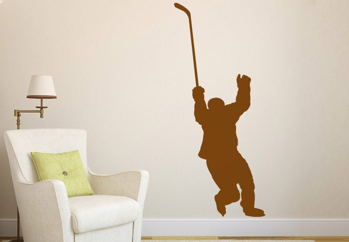 wall decals hockey player wall decal great sports vinyl